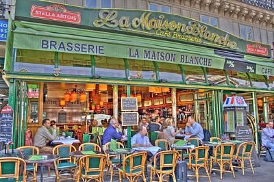 European City Digital Art - Paris Cafe In Summer by Matthew Bamberg
