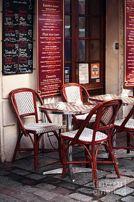 Photograph - Paris Cafe by John Rizzuto