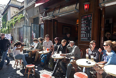 Photograph - Paris Cafe Life by Liz Leyden