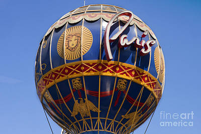 Paris Skyline Royalty-Free and Rights-Managed Images - Paris Casino Balloon in Las Vegas by Anthony Totah
