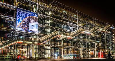 Paris Centre Pompidou Art Print by Tomas Horvat