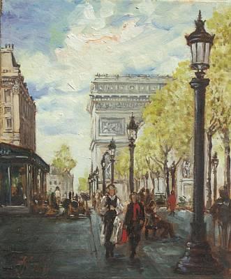 Paris Painting - Paris Champs Elysees by Irek Szelag