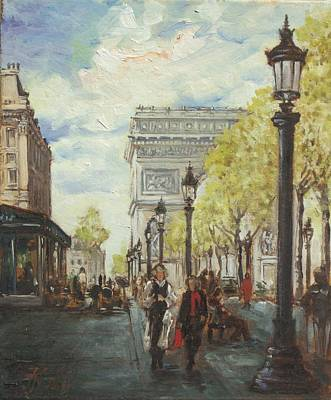 Champs Elysees Painting - Paris Champs Elysees by Irek Szelag
