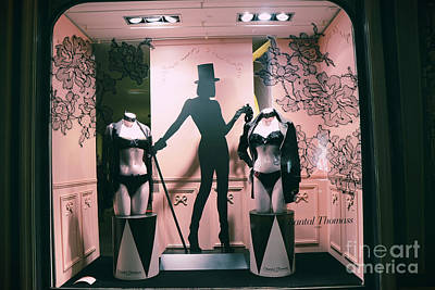 Photograph - Paris Chantal Thomass Lingerie Shop - Paris Luxury Lingerie Boutique Mannequins Art Deco by Kathy Fornal
