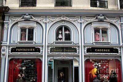 Vintage Architecture Photograph - Paris Chantel Thomass French Lingerie Luxury Shop Architecture Paris Luxury Lingerie Shop by Kathy Fornal