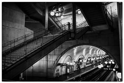 Photograph - Paris Cite Underground - Two by Georgia Fowler