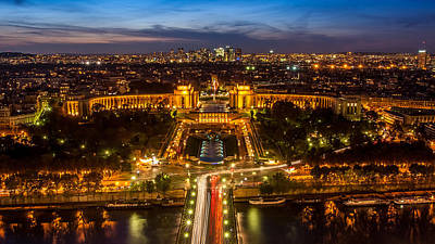 Photograph - Paris City From The Eiffel Tower by Pierre Leclerc Photography