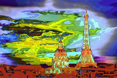 Paris - City Of Lights Art Print