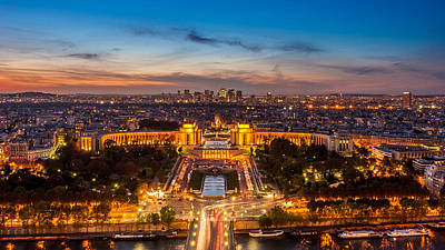 Photograph - Paris City Of Lights From The Eiffel Tower by Pierre Leclerc Photography