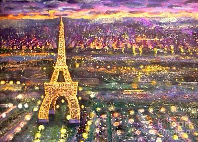 Mixed Media - Paris City Of Lights by Rita Brown