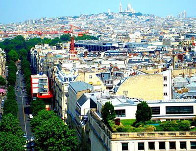Sacre Coeur Photograph - Paris City View by Kay Gilley