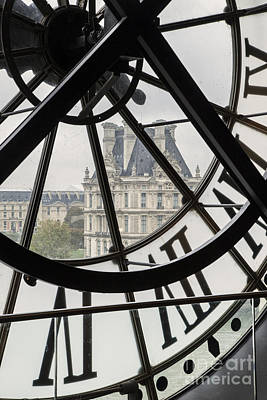 Photograph - Paris Clock by Brian Jannsen