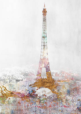 Paris Color Splash Art Print by Aimee Stewart