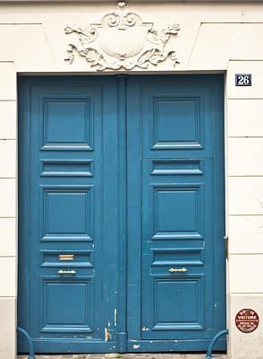 Paris Door Art Print by Georgia Fowler