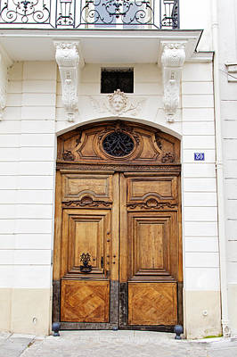 Photograph - Paris Door - No. 30 - Paris Photography by Melanie Alexandra Price