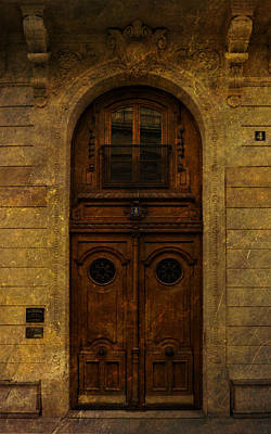 Photograph - Paris Door Number Four by Bob Coates
