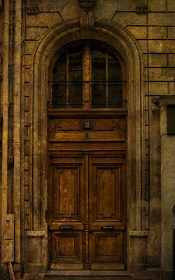Photograph - Paris Door Number Two by Bob Coates