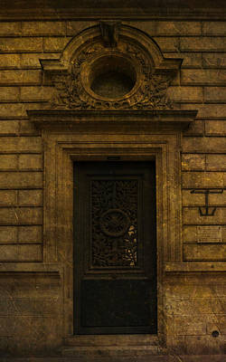 Photograph - Paris Door Stonework by Bob Coates