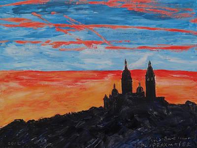 Sacre Coeur Painting - Paris - Eglise Sacre Coeur by Agnieszka Praxmayer