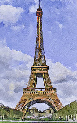 Paris Eiffel Tower 2 Art Print by Yury Malkov