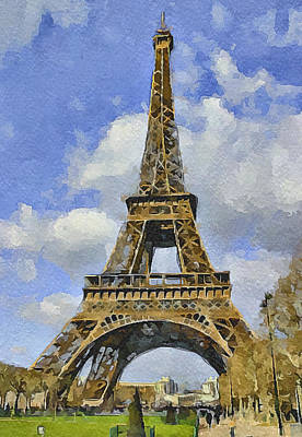 Paris Eiffel Tower 3 Art Print by Yury Malkov