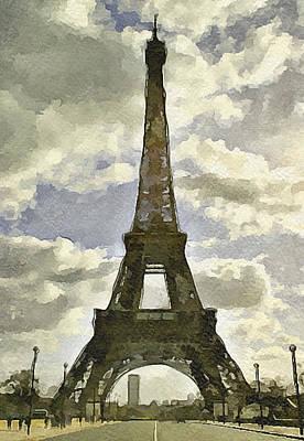 Paris Eiffel Tower 4 Art Print by Yury Malkov