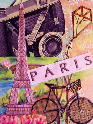Bicycle Drawing - Paris  by Eloise Schneider