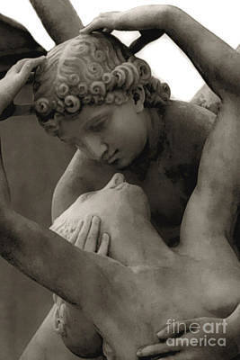 Paris - Eros And Psyche Romantic Sculpture Art Print by Kathy Fornal