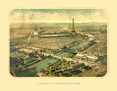 Lithography Digital Art - Paris Exposition by Gary Grayson