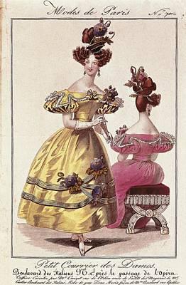 Paris Fashion. Illustrations Art Print by Everett