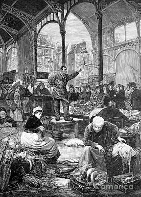 Black Commerce Photograph - Paris Fish Market, 1880s by Bildagentur-online
