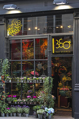 Paris Flower Shop Art Print by Glenn DiPaola