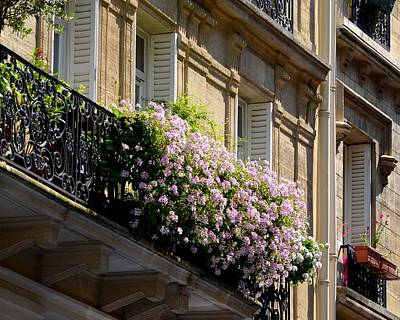 Photograph - Paris Flowers On The Balcony by Toby McGuire