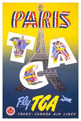 Paris Fly Tca Art Print by David Wagner
