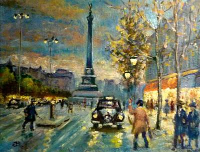 Painting - Paris For Tara by Philip Corley