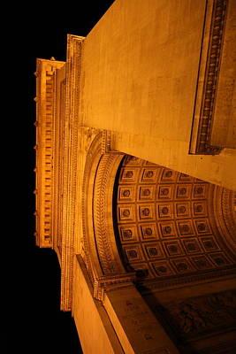 Road Photograph - Paris France - Arc De Triomphe - 01132 by DC Photographer