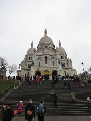 Coeur Photograph - Paris France - Basilica Of The Sacred Heart - Sacre Coeur - 12125 by DC Photographer