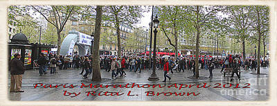 Champs Elysees Painting - Paris France Marathon by Rita Brown