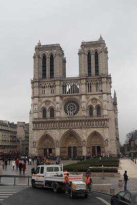 Paris France - Notre Dame De Paris - 011312 Art Print by DC Photographer