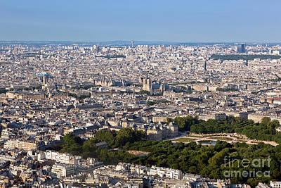Angle Photograph - Paris France Top View On Notre Dame De Paris  by Michal Bednarek