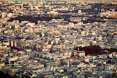 Block Photograph - Paris France View From The Top On A Residential District by Michal Bednarek