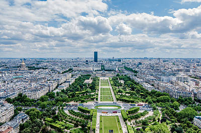 Paris Skyline Royalty-Free and Rights-Managed Images - Paris from Above by Amel Dizdarevic