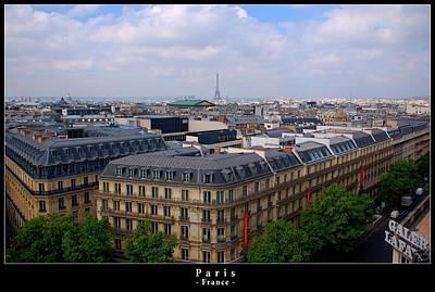 Paris Skyline Royalty-Free and Rights-Managed Images - Paris from above by Dany Lison