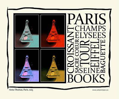 Sacre Coeur Digital Art - Paris From Books by Urbanmoon Photography
