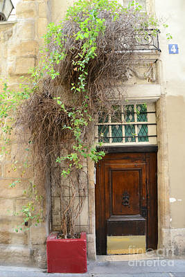 Photograph - Paris Gardens Door Photography - Paris Door No. 4 - Paris Street Photography by Kathy Fornal