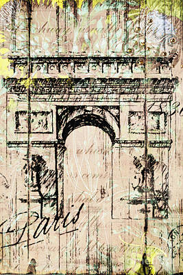 Paris Gate Vintage Poster Original by Art World