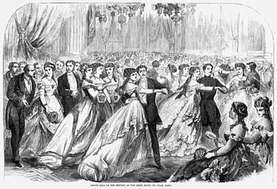 Ballroom Painting - Paris Grand Ball, 1867 by Granger