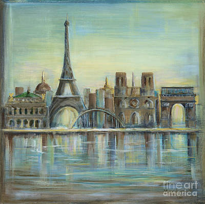 Eiffel Tower Painting - Paris Highlights by Marilyn Dunlap