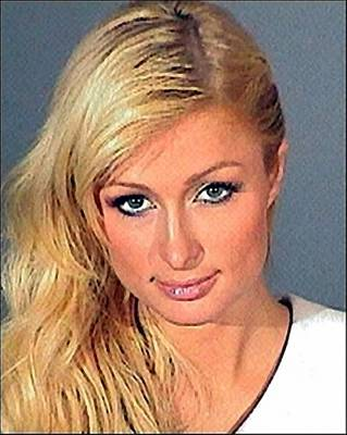 Digital Art - Paris Hilton Mug Shot by Police Records
