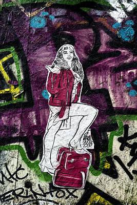 Photograph - Paris Hitchhiker Graffiti by Georgia Fowler